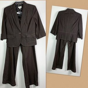 Ann Taylor Loft pant suit womens size 10 brown